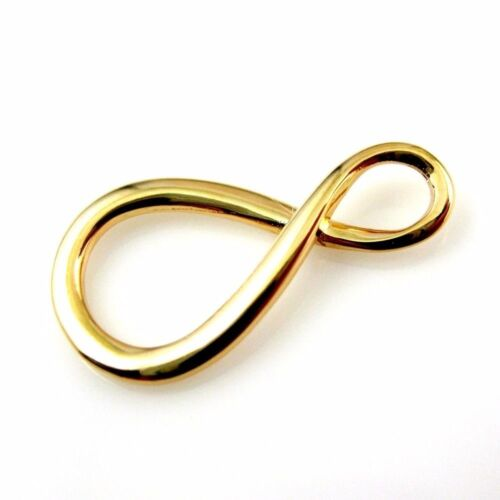 Gold plated Vermeil Sterling Silver Infinity Charm-Warped Infinity Charm Pendant