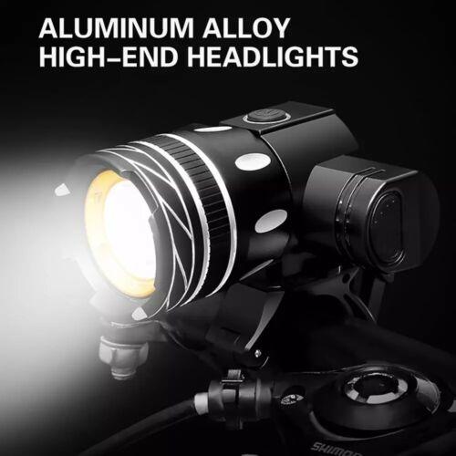 LED Fahrradbeleuchtung Fahrradlampe Set Fahrrad Scheinwerfer Licht USB