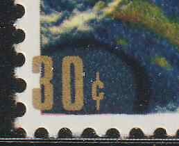 MALAYSIA-1970-SATELLITE-30c-GOLD-ERROR-VARIETY-GOLD-SHIFT-TO-LEFT-OUTSIDE-FRAME