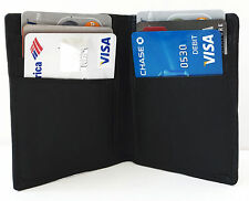 Black Mens GENUINE LEATHER Bifold  Thin Wallet Credit 6 Card Case Front Pocket S