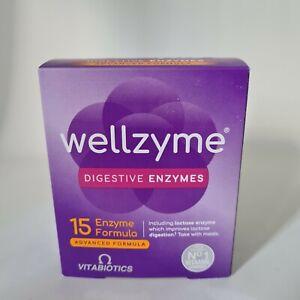 Vitabiotics wellzyme Formula avanzata enzimi digestivi Vegan Cibo 60 Capsule