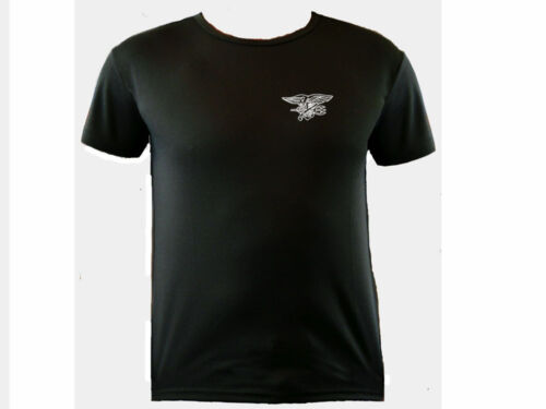 US special forces navy seals training moisture wicking black polyester t shirt