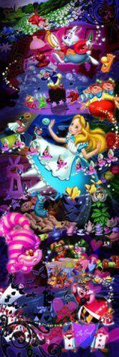 Tenyo Japan Jigsaw Puzzle DG-456-715 Disney Alice in Wonderland (456 Pieces)