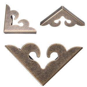 12-Stueck-Vintage-Metall-dekorative-Ecke-Halterung-fuer-Brustkasten-Box-WH