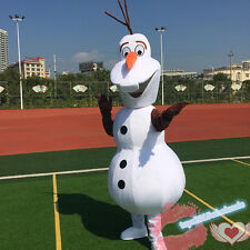 Olaf Snowman Mascot Costume Adult Fancy Dress Christmas party game outfits HOT2