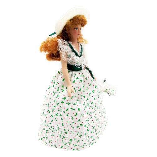 12 puppenhaus Miniatur Viktorianischen Figuren in Kleid Hut Mädchen 1