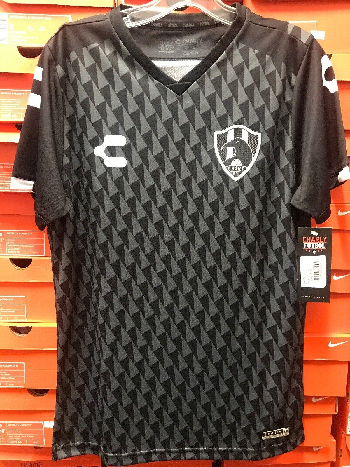 Club de cuervos temporada 4 Jersey 2019 Marca Charly Tamaño Pequeño talla pequeña