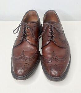 Allen Edmonds Mcallister Wingtip Dark Brown Leather Oxford Dress Shoes SZ 9D 9 D
