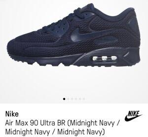 Nike Air Max 90 Ultra BR Midnight Navy Obsidian Blue Red 725222 ...