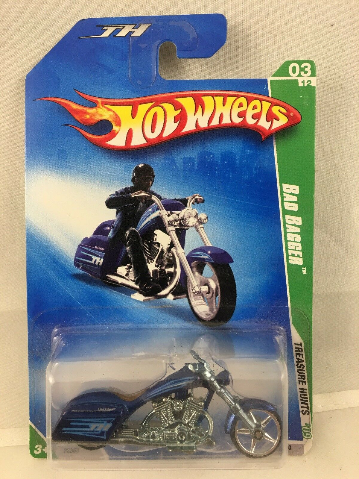 Hot Wheels 2009 Super Treasure caza Bad Bagger  12 sellado de fábrica