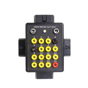 OBD2 Professionell Breakout Box 16 Pin geeignet für alle Diagnosegeräte Diagnose