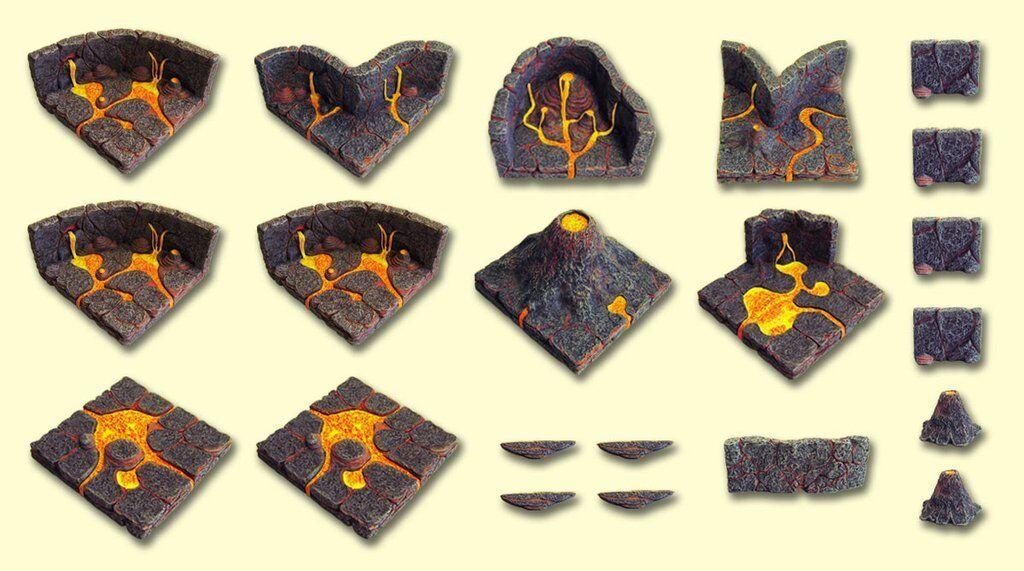 Dvärven Forge Master Maze DOE Hellscape 1 Set NY IN låda förseglad MM -036 OOP