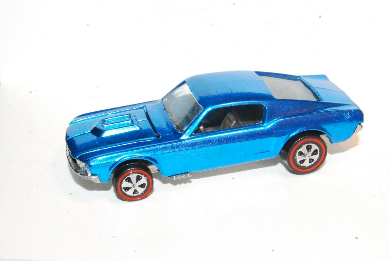 Mustang Original Hot Wheels rotline Restoration US Ice Blau