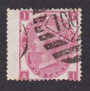 GB-QV-1867-80-3d-deep-rose-plate-5-wmk-spray-FU-fine-used-wing-margin-AI