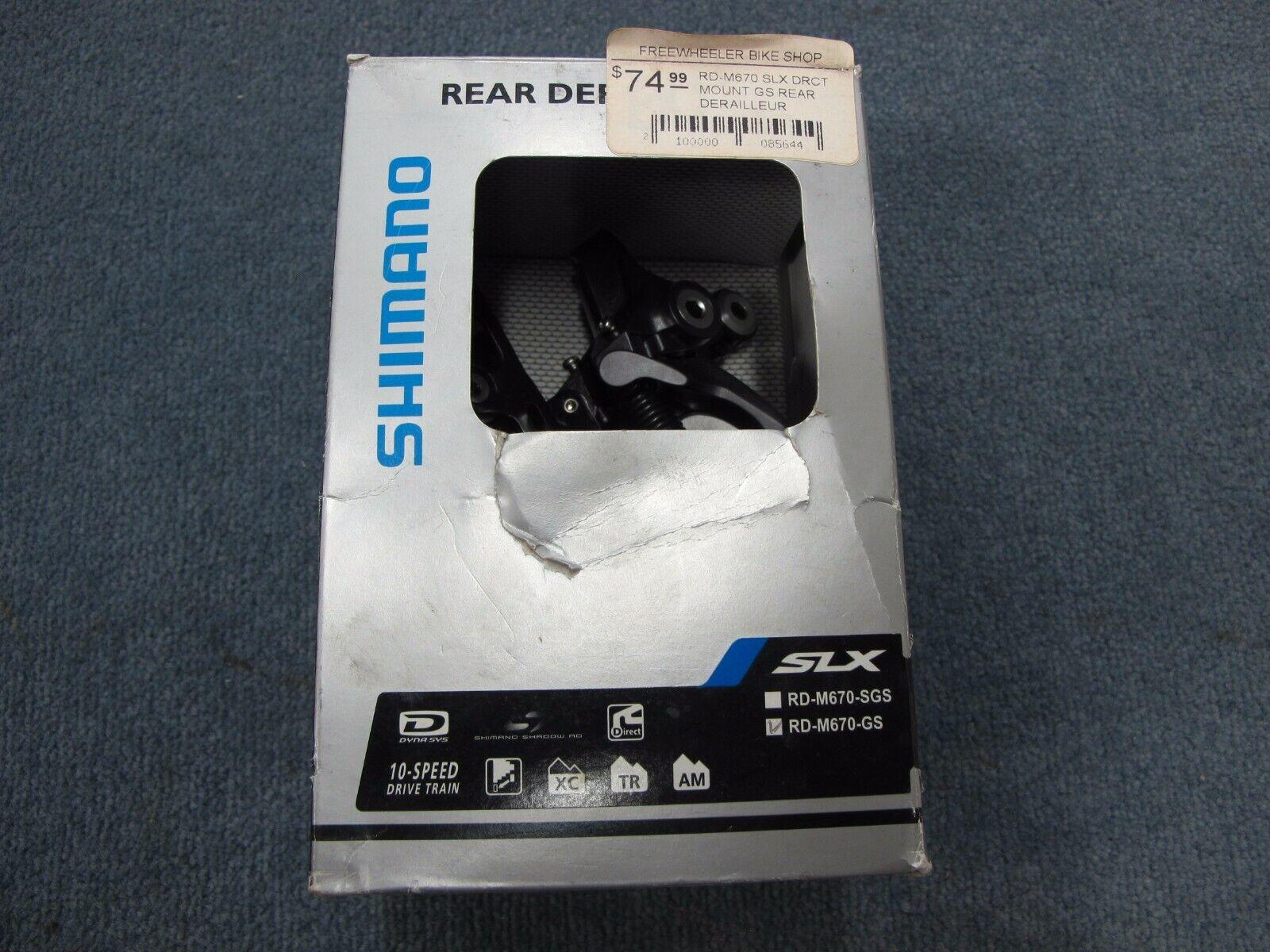 Shimano  10 speed rear derailleur RD-M670-GS SLX medium cage  honest service