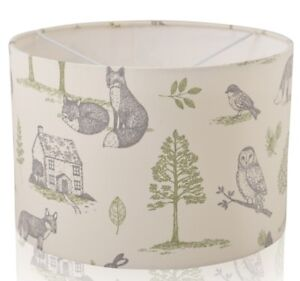 New forest woodland cream grey stag hare owl fox ceilingtable image is loading new forest woodland cream grey stag hare owl aloadofball Choice Image