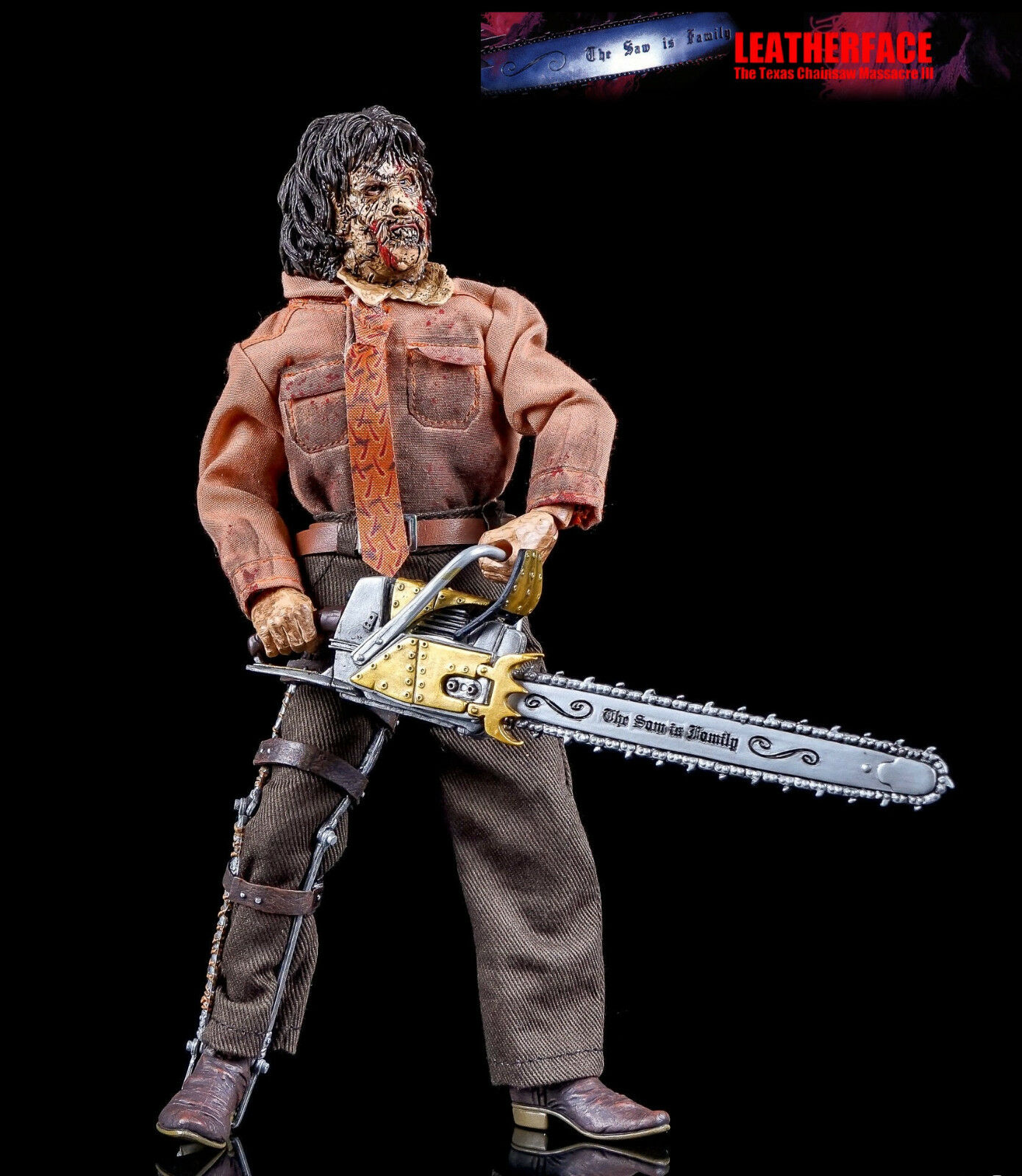 Neca Texas Chainsaw Massacre III - Leatherface 8   Scale Mego Style Figure New