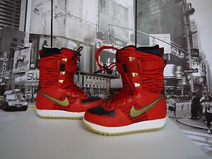 7fc6d8f447 NIKE Red Tiger Rabbit Zoom Force 1 Snowboarding Boots US MEN S 7 ...