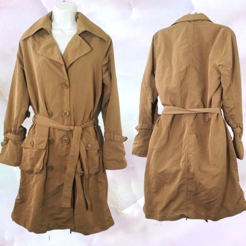 G.E.T  Trench Utility Jacket Outerwear Double Bres