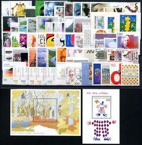 Bund-Jahrgang-2000-jede-MiNr-1x-mit-Block-postfrisch-MNH