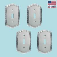4 Switchplate Roped Chrome Single Toggle/dimmer | Renovator's Supply on sale
