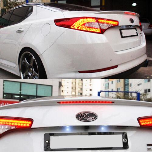 Rear Trunk Brake LED Light Lamp Lip Lid Spoiler Black For KIA 2011-13 Optima K5