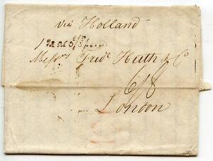 GERMANY-1828-pre-stamp-entire-Hamburg-London-039-via-Holland-039