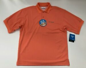 Columbia-Men-039-s-PFG-Perfect-Cast-UV-Protection-Polo-Shirt-Orange-Small-MSRP-40