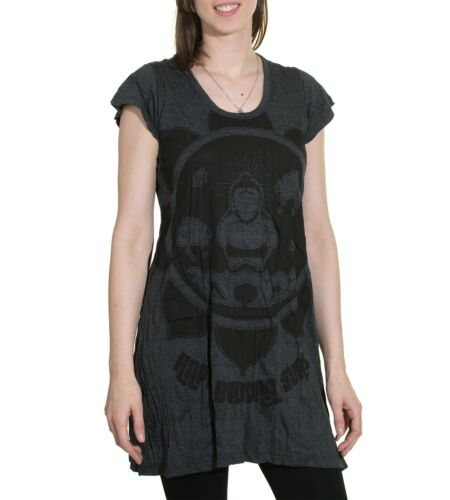 70er Retro trägertop Mini-robe Sure Bouddha Lotus Fleur T-Shirt