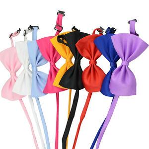 Adjustable-Pet-Bow-Tie-Various-Colours-Cat-Dog-Rabbit-amp-Puppy-Clothes-Collar