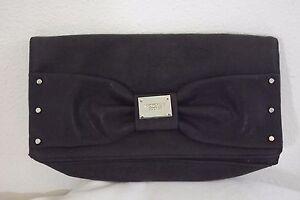 VICTORIAS-SECRET-CLUTCH-Handbag-Charcoal-Black-Silver-Accent-PURSE-Cosmetic-Bag