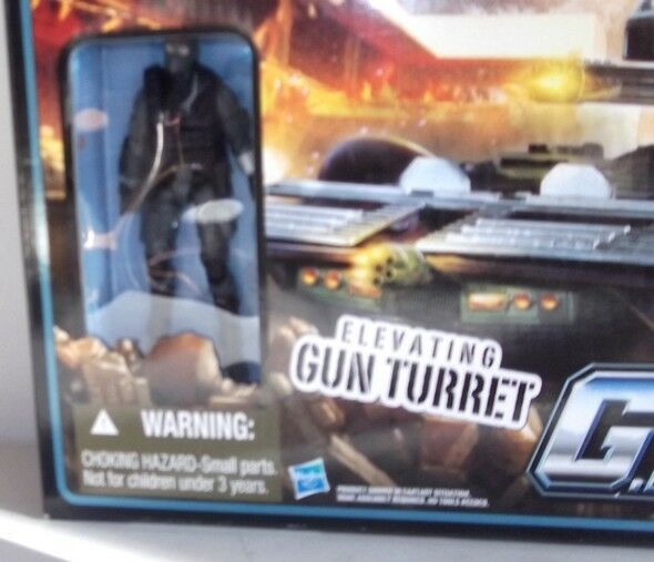 ✰ New 2010 GI Joe Cobra Fury Gun Turret With 4  ALLEY VIPER Figure Hasbro