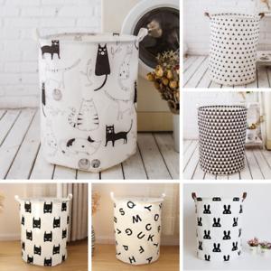 Details zu Korb für Spielzeug Wäschekorb Design Beutel Sack Korbtasche für  Kinderzimmer Box