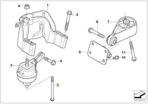 BMW TORX Bullone a vite M10x1.5x125 mm grado 10.9 6766753 22116766753
