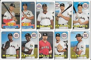 MIAMI-MARLINS-2018-Topps-Heritage-High-Number-MASTER-TEAM-SET-w-SP-Inserts