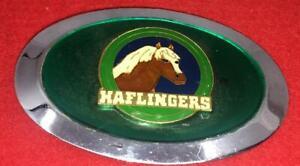 VINTAGE-HAFLINGERS-ENAMEL-METAL-BELT-BUCKLE-HORSE-EQUESTRIAN