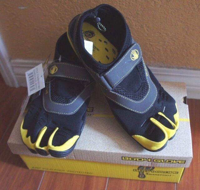 5463c7ec1760 BODY GLOVE BOY 3T BAREFOOT MAX Kids WATER SHOES 3-TOE Black Yellow Youth