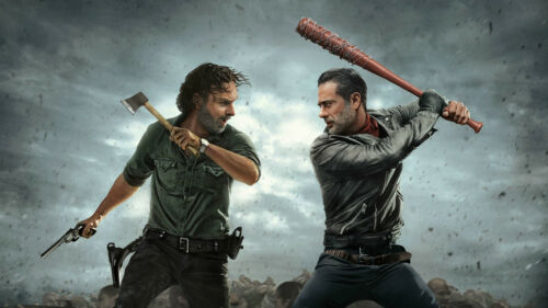 The Walking Dead Andrew Lincoln Negan Silk poster wallpaper 42 X 24 inches