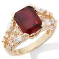 Victoria Wieck 5.12ct Absolute And Created Ruby Bridge Ring Size 6