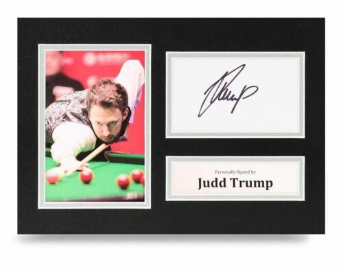 Judd Trump Signed A4 Photo Display Snooker Autograph Memorabilia COA