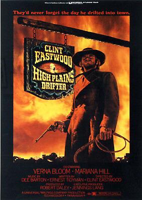 Clint Eastwood High Plains Drifter Repro Film POSTER
