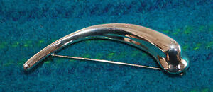 Fine Pins & Brooches Jewelry & Watches Robert Lee Morris Sterling Silver Crescent Shaped Brooch Reasonable Price