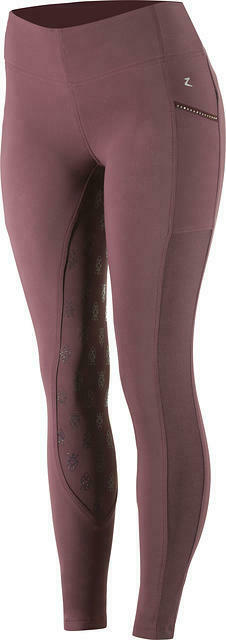 Horze donna Deep viola Silico Full Seat inglese Riding Breeches US24EU36 SALE