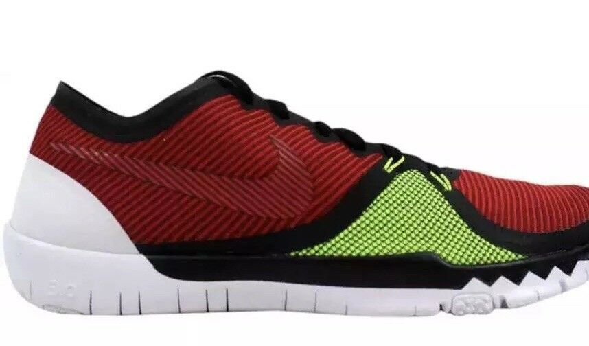 Men's Nike Free shoes 3.0 V4 749361-066 Black Team Red-UVTY Red-Volt Sz 11