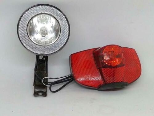Basta Ellipsoid Halogen Front Head Light With Basta Ray Halogen Rear Light Retro