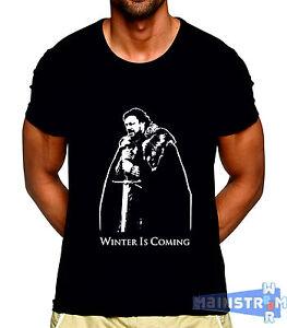 T Shirt Maglietta Game Of Thrones Ned Stark Winter Is Coming Modello
