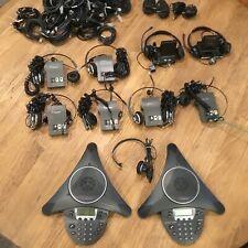 Lot Of Plantronics Amplifiers Amp Headsetspolycom Soundstations Speaker Phones