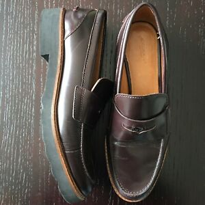 QUALITY-COACH-New-York-Mens-Black-Leather-Penny-Loafer-Dress-Shoes-8-5-ITALY