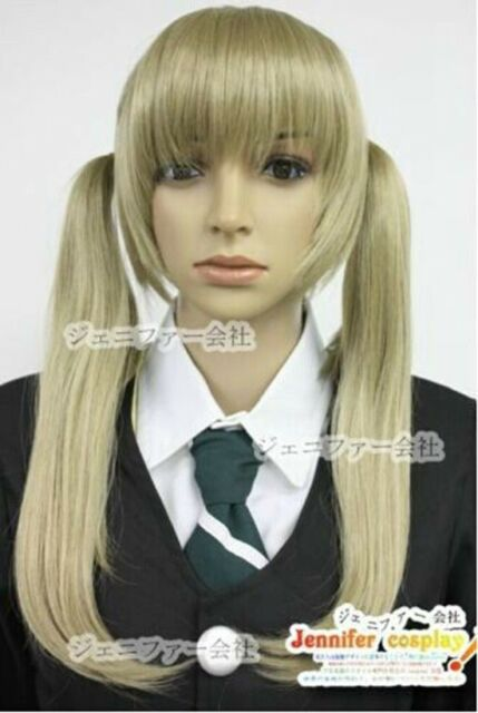 Soul Eater Maka Albarn cosplay wig costume Golden double ponytail