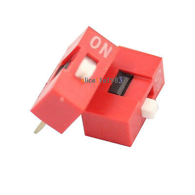 10Pcs Slide Type Switch Module 1-Bit 2.54mm 1 Position Way DIP Red Pitch